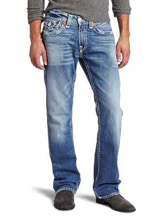 True Religion Men's Ricky Super Straight Leg Jean in Meddrifter, Meddrifter, 30