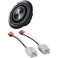 Pioneer TS-SW2002D2 600 Watts 8 Dual 2 Ohm Shallow Mount Car Truck Subwoofer With Metra 72-6514 Speaker Harness for Select Chrysler/Dodge Vehicles