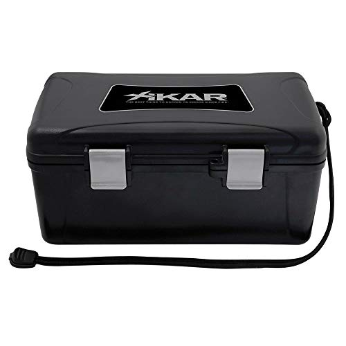 Xikar Cigar Travel Carrying Case, Holds 15 Cigars, Includes Humidifier, Watertight, Crushproof, Model 215Xi, Black