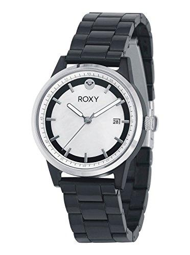 Roxy Women's RX/1012MPBK THE ABBEY Date Function Dial Black Resin Bracelet - Womens Crystal Roxy