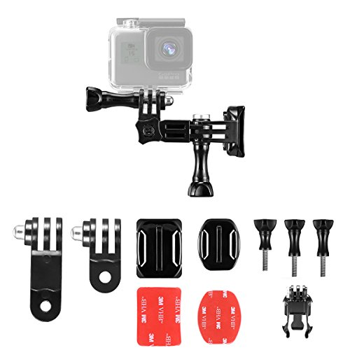 Taisioner Helmet Adjustable Flat Multifunction Mount kit for GoPro Cycle Surfing Gliding Skiing