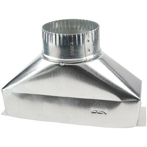 Deflect-O Jordan 4 in. Dia. x 10 in. L Galvanized Steel Duct (Hood Boot Range)