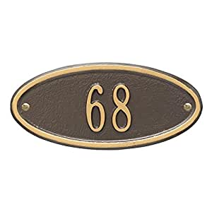 Customizable Madison Oval - House Plaque - One Line
