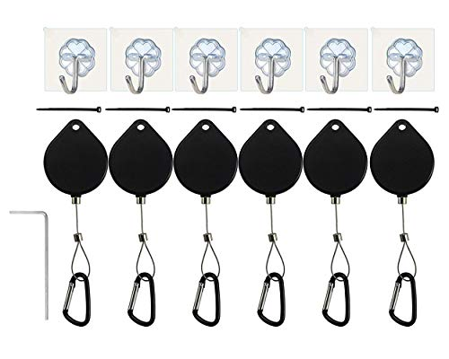 DS.DISTINCTIVE STYLE VR Accessories Cable Management 6 Packs - Drill Free Retractable Ceiling Suspension System for HTC Vive/HTC Vive Pro Virtual Reality/Oculus Rift/Playstation VR/Microsoft MR