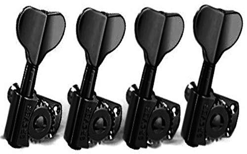 Grover Titan Bass Guitar Tuning Machines - 20:1 Ratio - 4 In-Line - Black Chrome