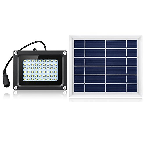 Semintech Solar Flood Lights 54 LED 500 Lumens 3W Outdoor Solar Security Light for Garden Garage Lawn Pool Fencing Pathway White