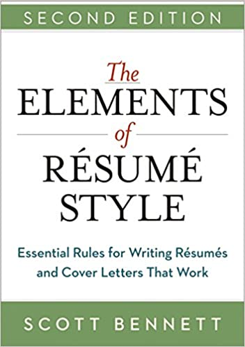 amazon the elements of resume style essential rules for writing