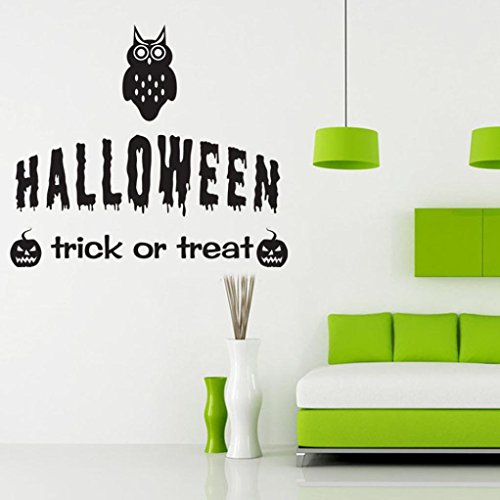Halloween Pumpkin Wall Stickers, Oksale® 17.7 × 19.7 Inch, Decorative Home Living Room Bedroom Crafts PVC Removable Applique Papers Mural Decoration Decor (Halloween Pumpkin Dance Vine)
