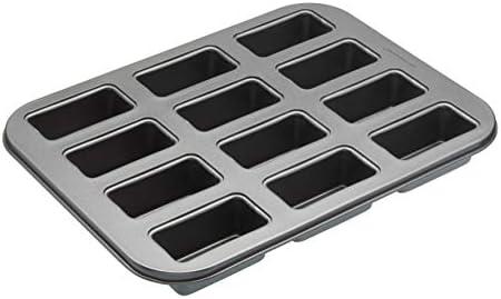 KitchenCraft Bakplaat met minibakvorm en losse vloeren staal grijs 27 x 36 x 3 cm