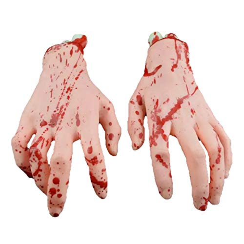 KUKALE Halloween Scary Decor Bloody Hand Legs Haunted House Horror Props Party Club]()