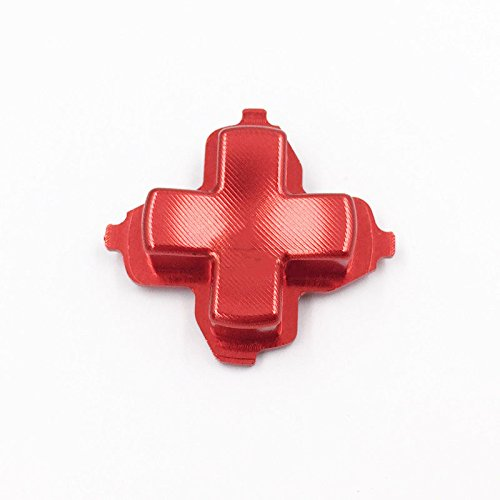 Aluminum Alloy Metal Direction Button D-Pad Dpad D pad Key Button Replacement for Xbox one Controller-Red