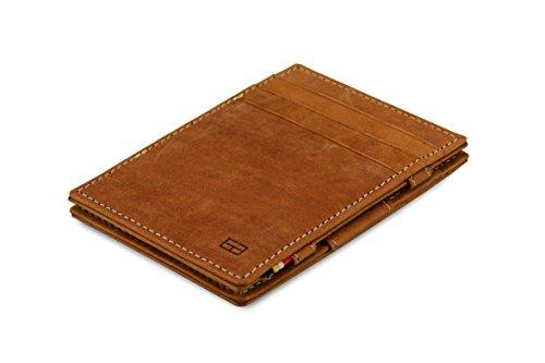 (Garzini Magic Wallet RFID Leather Essenziale (Camel Brown))