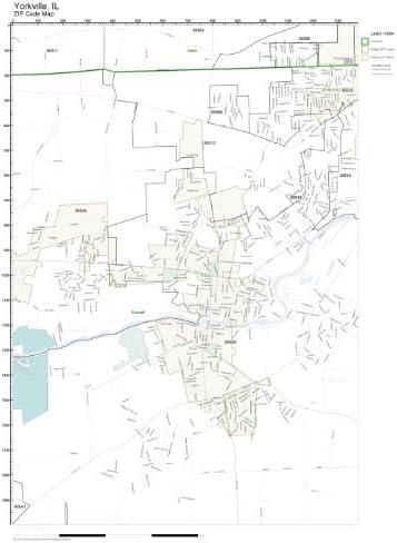 Yorkville Il Zip Code Map Amazon.com: ZIP Code Wall Map of Yorkville, IL ZIP Code Map