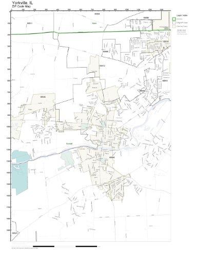 Amazon.com: ZIP Code Wall Map of Yorkville, IL ZIP Code Map Not