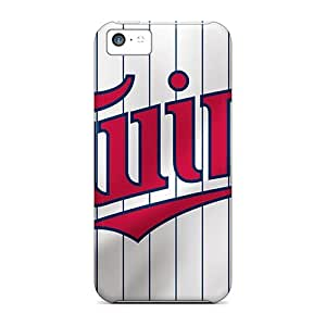 Iphone 5c QbC8182mgex Custom Colorful Minnesota Twins Skin Bumper Cell-phone Hard Covers -LauraFuchs