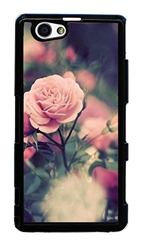 Hard Case for Sony D5503,Xperia Z1 Compact, M51w,Xperia Z1 mini(Rose Red Pink Flower)