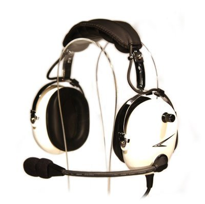 Cobra C20W Pilot Aviation Headset (White) (Noise Canceling Aviation Headsets)