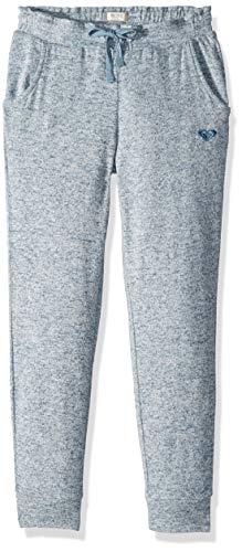 Roxy Girls' Big Flying Butterfly Cozy Sweatpants, Blue Mirage, 12/L