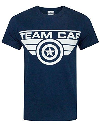 Captain America Civil War Team Cap Men's T-Shirt - Team T America Shirt