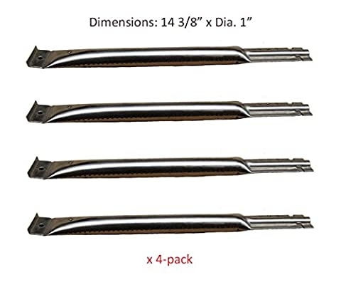 BBQ funland SB5491 (4-pack) Replacement BBQ Pipe Tube Gas Grill Burner for Charbroil, Charmglow, Kenmore, Uniflame, Lowes Model (Charmglow Sear Burner)