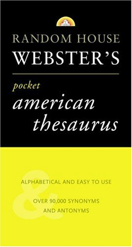 Webster's Pocket American Thesaurus (American Pocket Thesaurus)