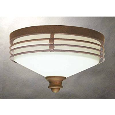 Volume Lighting V7352 Avila 1 Light Flush Mount Ceiling Fixture with White Glass,