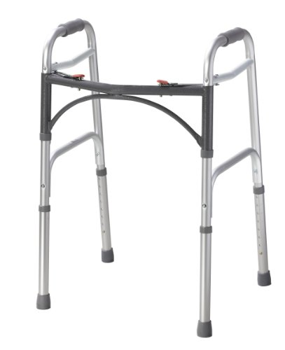 Fabrication Enterprises Folding 2-button walker, junior, no wheels, case of 4 by Fabrication Enterprises