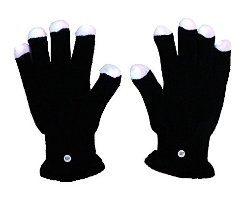 Lumiparty Blacked Out Glove LED 6 Colors Light Show Gloving and Lightshow Dancing Gloves for Clubbing, Rave, Birthday, Disco and Party (Gloving Lights)