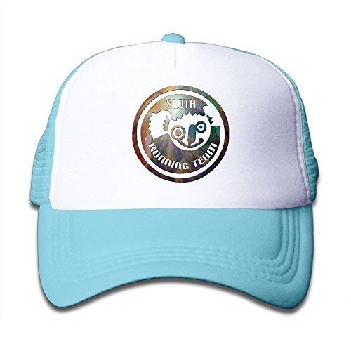 Gdgd1 Caps Sloth Running Team.PNG Kids Cool Adjustable Flat Hat Mesh Baseball - Png Running Kids