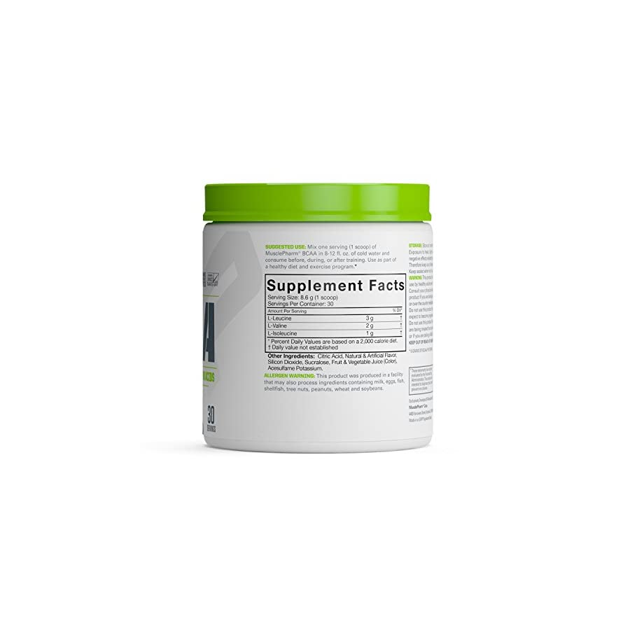 MusclePharm Amino Energy, 6 Grams of BCAA Powder, with Caffeine and Green Tea, BCAA Energy for Pre Workout or Anytime Energy