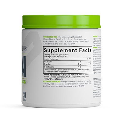 عروض Muscle Pharm BCAA Essentials Powder 30 Servings, Fruit Punch, 0.57lbs