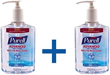 Purell Advanced Hand Sanitizer Refreshing Gel Pump Bottle 236 Ml