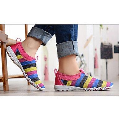 pwne Mocasines De Mujeres &Amp; Luz De Confort Slip-Onssoles Tulle Piscina Casualflat Talón Zapatos Gris Morado Fucsia US6.5-7 / EU37 / UK4.5-5 / CN37