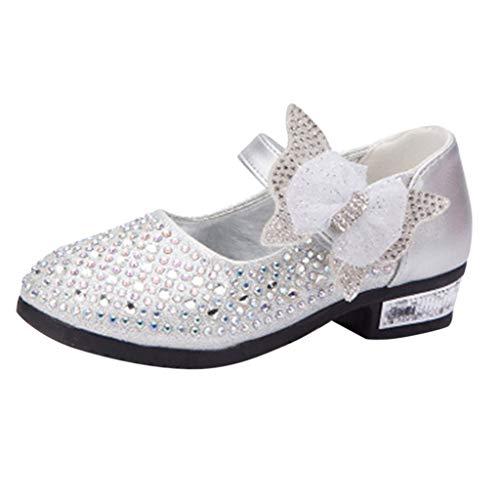 De Fiesta Talla Niña Vestir 35 Zapatos Plata Rhinestone Sandalias Princesa 26 qYTXp