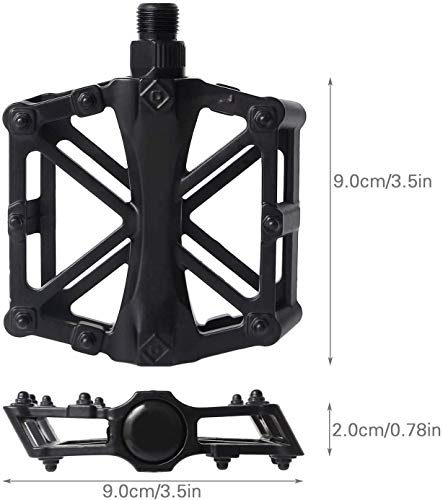 CETECK Bicycle Cycling Pedals, New Aluminum Anti Slip Durable Mountain MTB Bike Pedals Ultralight Cycling Road Bike Hybrid Pedals 9/16 inch(Shipped from United States)