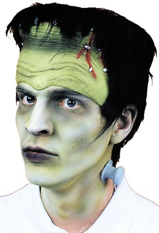 [WMU Monster Headpiece Hair And Bolts] (Boys Frankenstein Costumes)