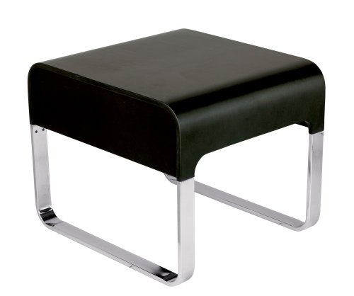 Adesso Regency End Table, Black - Contemporary Adesso End Table