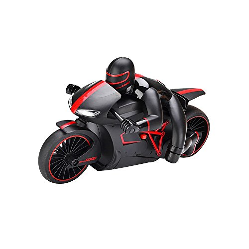 Toonol Remote Control Car High Speed Motorcycle 45 Degree 2.4G Flash Light Highest Speed Off-Road RC Motorcycle with LED Headlights,Color Red (Motorcycle Gas Rc)