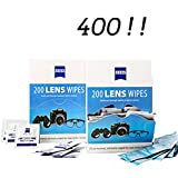 Lens Wipes - Suitable for Eyeglasses, Cellphones, Tablets, Camera Lenses, Swim Goggles, and Other Delicate Surfaces -Pre-Moistened,400 Individually Wrapped