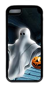 iPhone 5c Case - Fashional Unique Cool Halloween Pumpkins And Ghost House Black Soft Edge Cases