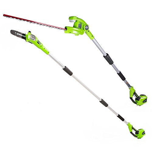 Greenworks 8.5' 40V Cordless Pole Saw with Hedge Trimmer Attachment, Battery Not Included ()