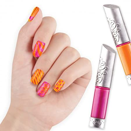 Style Me Up! : 2 in 1 Nail Art Pens - PINK/ORANGE