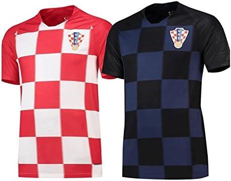 Shi18sport 2018 Football Uniform Croatia Away Adult Junior Jersey Suit Training Team Uniform Fans Souvenir