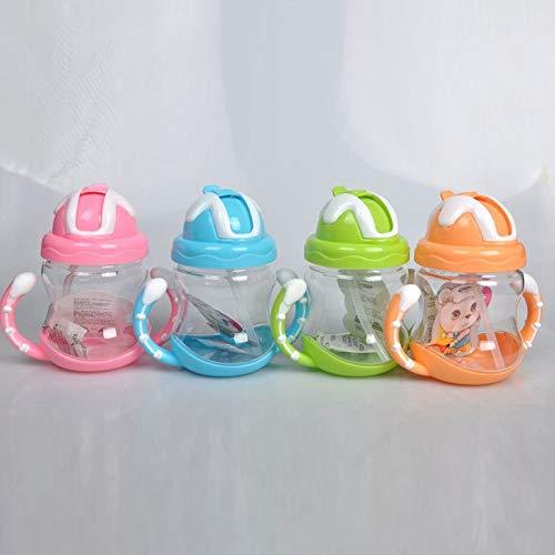 (New Edify Ltd Straw Kids 1Pcs Newborn Baby Cup Training Hand-Shaped Kettle Straw Pink)
