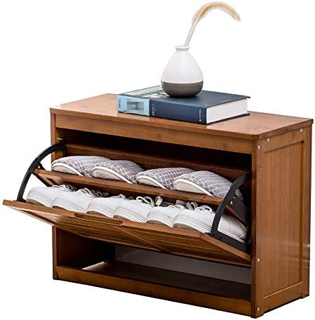玄関 収納付き ベンチ 布張りの座席ストレージベンチの靴店で玄関ホール、リビングルームのバスルーム 省スペース おしゃれ (Color : Brown, Size : 50x24x43cm)