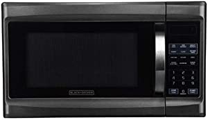 Black and Decker 1100 Watt 1.3 Cubic Feet Microwave with Digital Touch Controls and Display, Black Stainless Steel