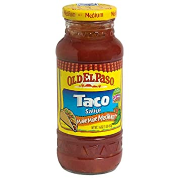 Old El Paso Medium Taco Sauce 16 Oz, (Pack of 12)