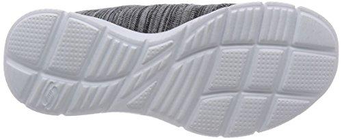 Skechers Equalizer First Rate - Zapatillas de Deportes de Interior de material sintético mujer Negro (BKW)
