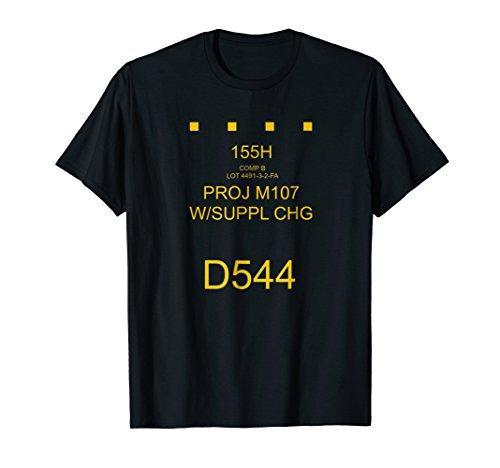 Artillery Shell - Field Artillery Tees: 155mm HE Shell Round Marking T-Shirt
