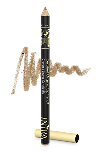 INIKA Certified Organic Lip Liner Pencil, All Natural Formula, Vegan, Rich, Creamy Formula, Suits Sensitive Eyes, 1.2g (Nude Delight) by INIKA